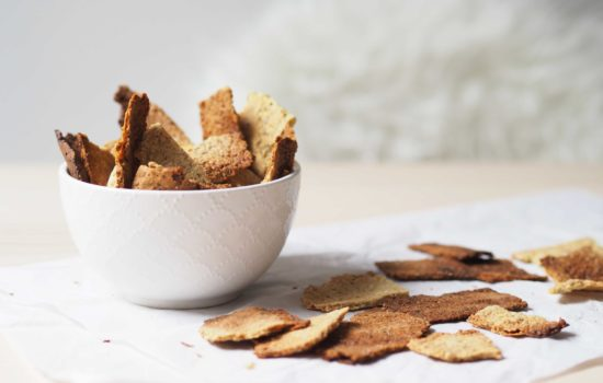 Crackers de superfoods y frutos secos