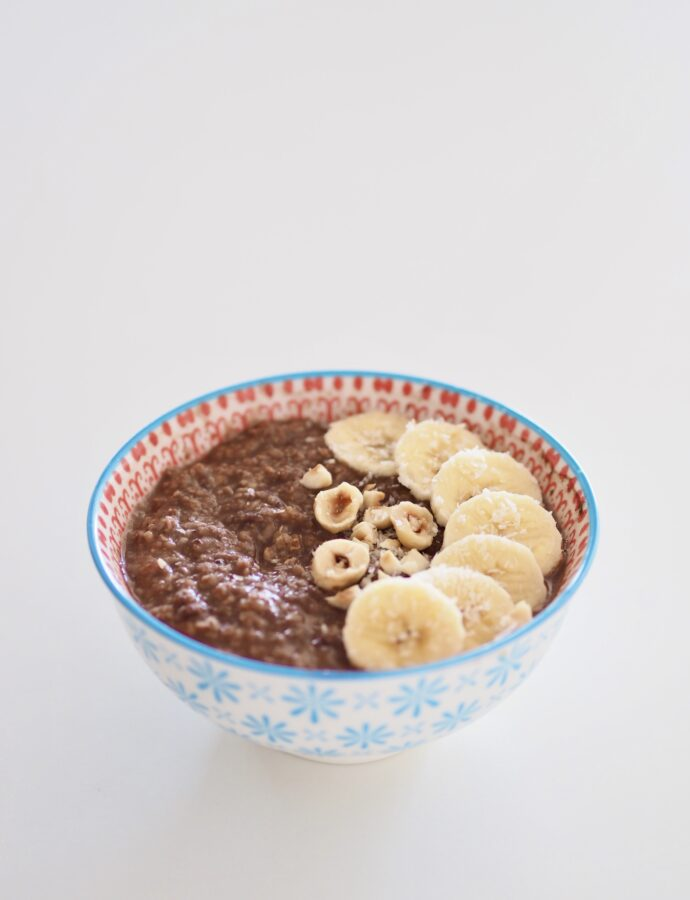 Porridge de chocolate saludable