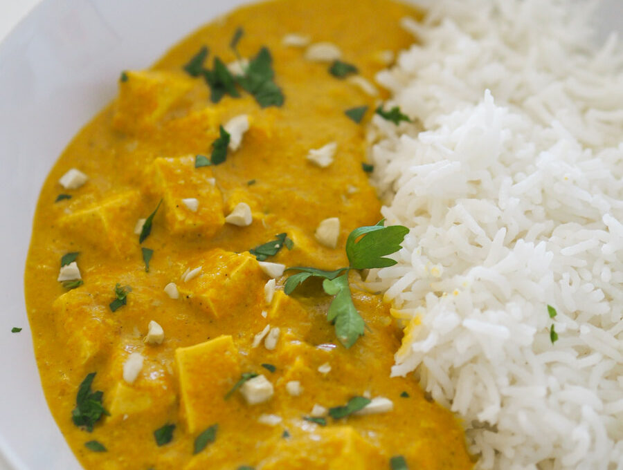 Tofu al curry